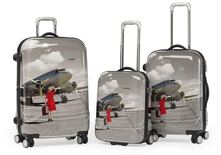 hartschalenkoffer claymore 4 radtrolley guenstig kaufen koffer mit motiv. Black Bedroom Furniture Sets. Home Design Ideas