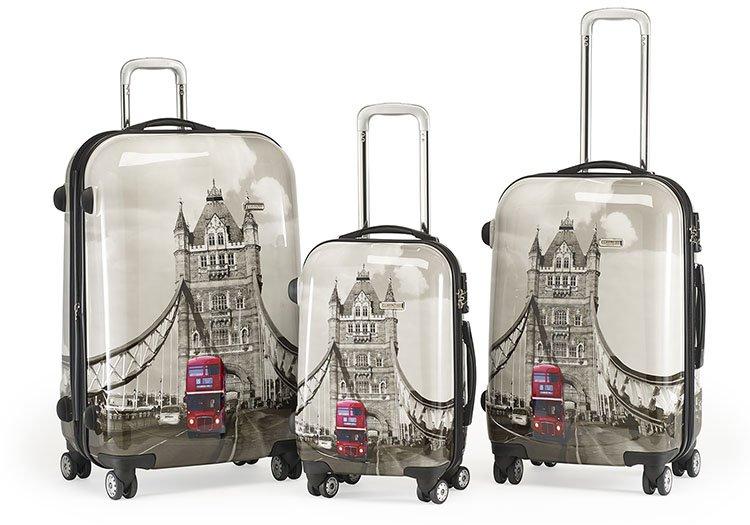 claymore koffer trolley mit london motiv 71cm 169 95. Black Bedroom Furniture Sets. Home Design Ideas