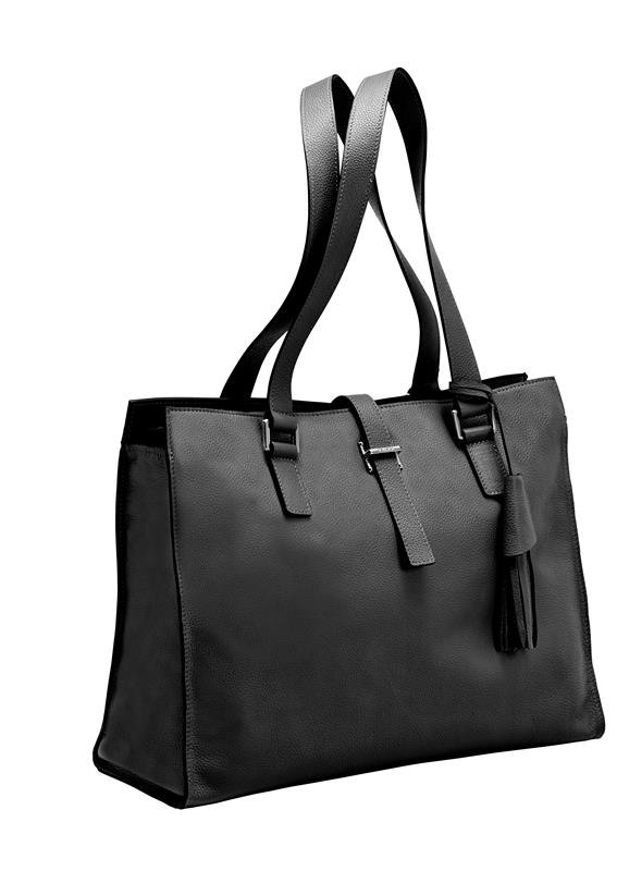 picard star 1 shopper handtasche in schwarz. Black Bedroom Furniture Sets. Home Design Ideas