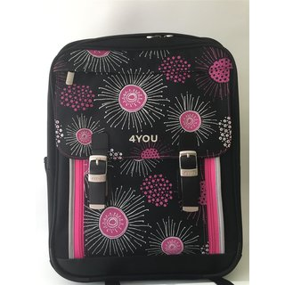 4You CLASSIC PLUS Schulrucksack in Xray Flowers